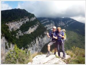 Ursula und Karl beim Wandern